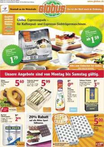 [Lokal Globus Neustadt an der Weinstraße] Kopier-/Druckerpapier 1000 Blatt für 5 €