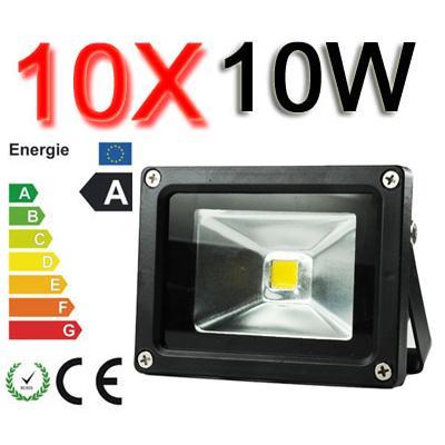 10x 10W LED Licht Flutlicht Strahler Fluter Objektbeleuchtung warmweiss IP65  @EBAY