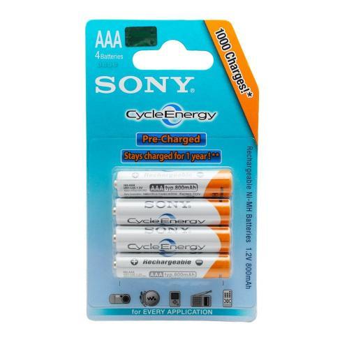 Sony CycleEnergy - Ready To Use - Akku - 3x4 Stück für 11,99€ (AAA) bzw. 12,99€ (AA) + VSK