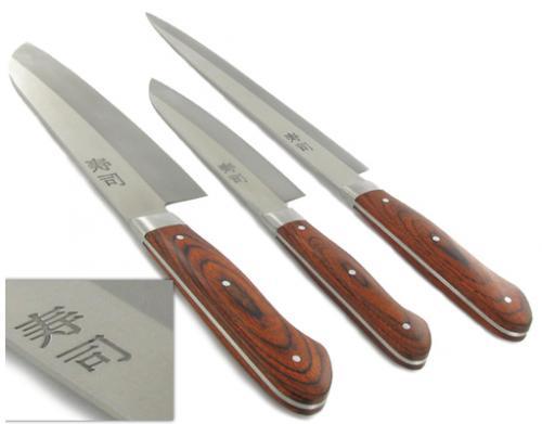 (MeinPaket) Zweibrüder 3-teiliges japanisches Sushi Messer-Set