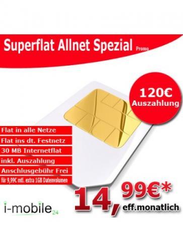 Vodafone Allnet Flat für nur 14,99€ effektiv