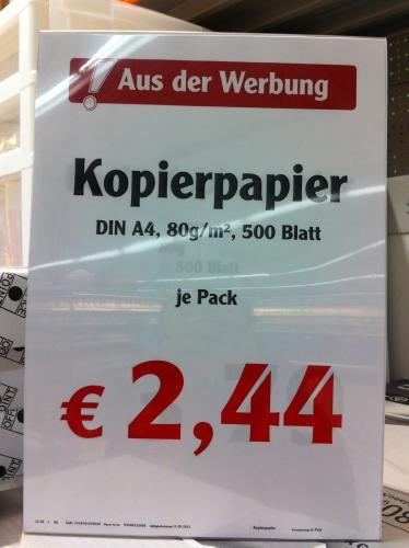 [@Globus Bobenheim]kopierpapier à pack 500Blatt