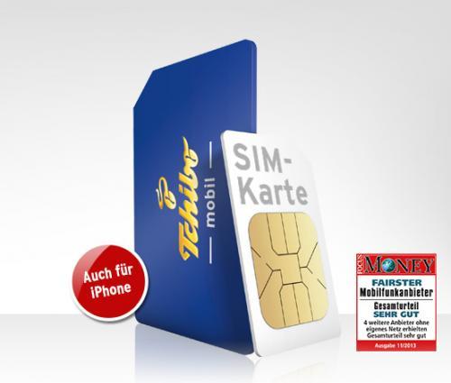 Tchibo Smartphone-SIM-Karte, mtl. 7,95 € statt mtl. 9,95 € und 2,95 € statt 9,95 € für die Karte.
