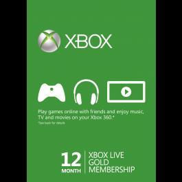 Microsoft Xbox Live Gold (12 Monate) für 31,75€ (+ -5% Rabatt möglich)
