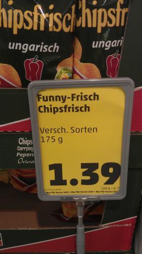 Funny Frisch Chips /Verschiedene Sorten.  Bei Penny in Solingen 1.39 €
