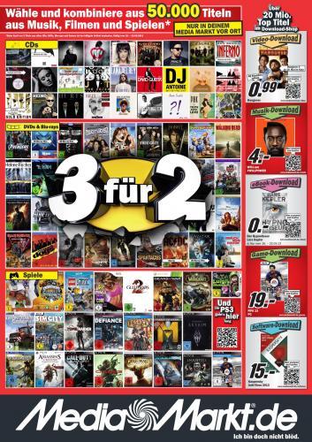 Media Markt - 3 für 2 Aktion ab dem 16.05 bis 22.05