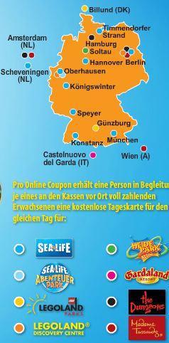 [Freizeitpark] Heide Park, Legoland und Gardaland 2 für 1 im Sommer!