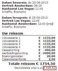 Und nochmal Las Vegas: 20.-25. Juni für 438,62 Euro
