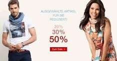 Sale bei Tom Tailor mit 20% - 50% Rabatt