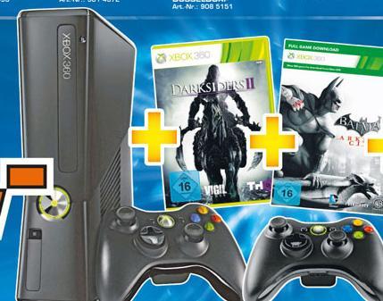 Xbox 360 250 GB, zwei Controller und zwei Spiele für nur 159€ @Saturn Stuttgart