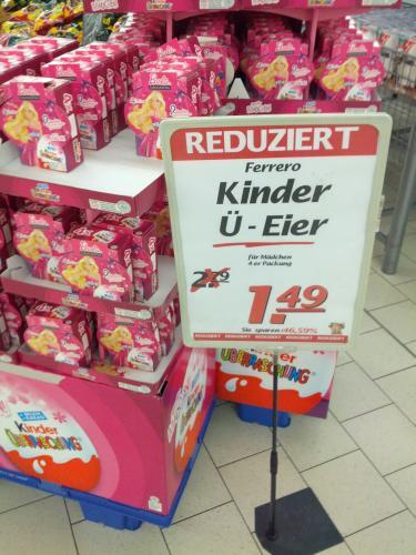 Ü-Eier für Mädchen 4er-Pack lokal Marktkauf Bielefeld für 1,49 Euro