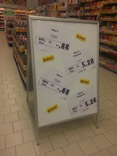 [lokal Stadthagen] Kaufland: Hohes c Orangensaft 1l für 0,88€