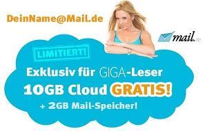 Freemail-Adresse mit 10 GB Speicher (+ 2GB Mail-Speicher) - NUR 10.000 Stk.!