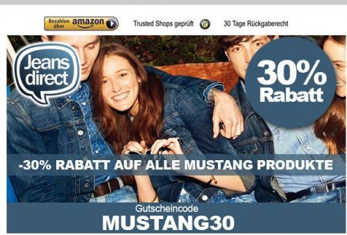 30% auf Mustang Produkte (Jeans, Gürtel etc.) bei Jeans Direct!