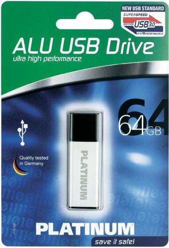 Platinum™ - 64GB USB-Stick (USB3.0, Alugehäuse) ab €28,91 [@Digitalo.de]