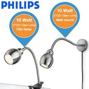 Philips Wand- u. Cliplampe für 39,95€ zzgl. 5,95€ Versand @ibood