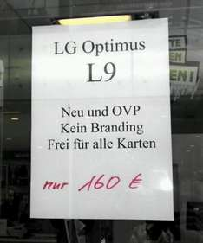 LG Optimus L9 lokal Essen