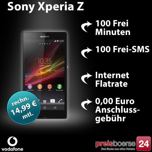 Sony Xperia Z mit Vodafone Basic 100 für 359,76€