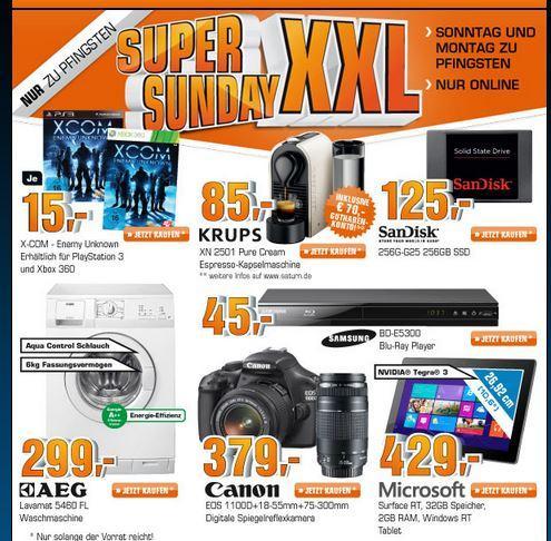 Saturn Super Sunday Canon Eos 1100 D für 379 €,Sandisk SSD etc.