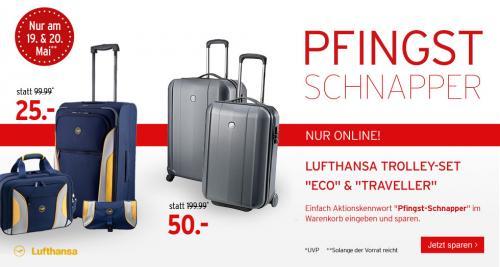 44€ und 100€ Gutschein für Lufthansa Trolley-Sets bei Karstadt