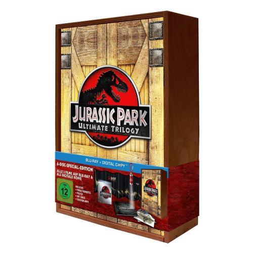 Jurassic Park Ultimate Trilogy - Special Edition in limitierter Holzbox, inkl. Digital-Copy [Blu-ray] für 23,97 €  amazon.de