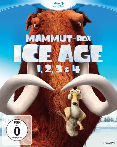 [BLU-RAY] Ice Age - Teil 1-4 Mammut-Box @ Amazon.de für 23,97 EUR
