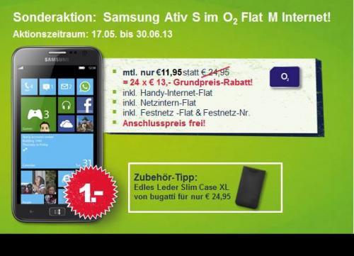 Samsung Ativ S + o2 Flat M Internet + 25gb Cloud (offline)