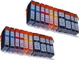20 kompatible Druckerpatronen für Canon IP4850 IP4950 MG5150 MG5250 MG5350 MG6150 MG6250 PGI-525,CLI-526BK,CLI-526C,CLI-526M,CLI-526Y + 50 Photo Cards