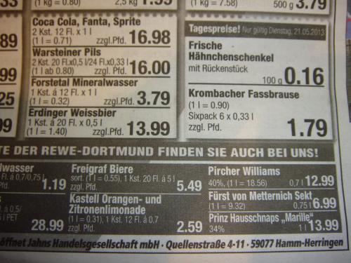 [Lokal] Warsteiner Pils 2 Kisten !!!  (je 20 * 0,5l oder 24*0,33l) für 16,00  EUR zzgl. Pfand bei Jahns (REWE), Hamm