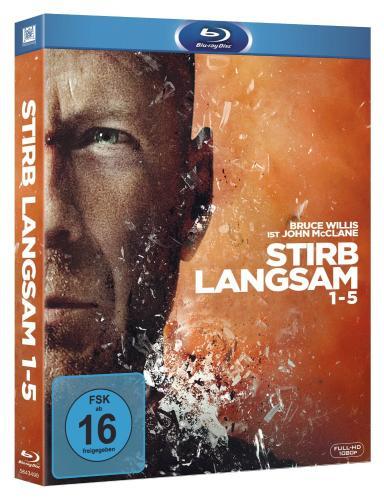 Stirb Langsam 1-5 Collection [Blu-ray] für ohne VSK für 36 € @ buch.de
