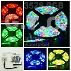5M wasserdicht RGB 3528 LED Strip mit SMD-300leds + 24KEY IR remote controller