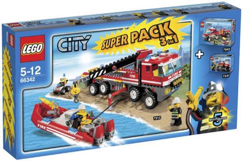 Lego™ - City: Feuerwehr Superpack 3in1 7213+7241+7942 (66342) für €20.- [@Tegut-Ideenwelt.com]