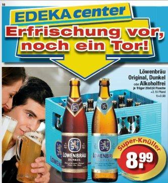 [regional] edeka SUEDBAYERN Löwenbräu Bier EUR 8,99 pro Kasten