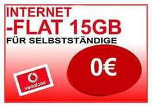 Vodafone Internet Flat 0,00€/ Monat 15GB Inklusiv Volumen + Auszahlung 150€ NUR SOHO
