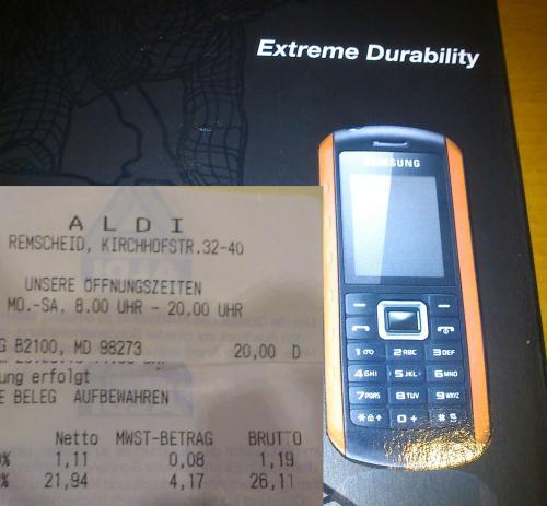 [ALDI Nord -Lokal?] Samsung GT-B2100 Outdoor Handy für 20,00 Euro