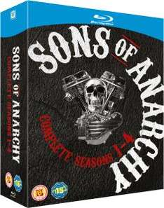 [Blu-ray] Sons of Anarchy - Seasons 1-4 //  35 €  @ZAVVI