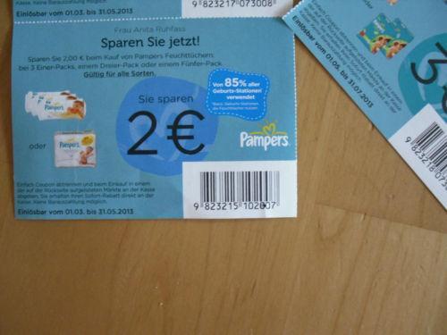Pampers Feuchttücher für 3,99€ ohne Gutschein (1,99€ mit Gutschein)