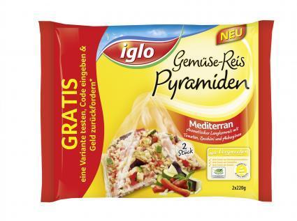 IGLO Gemüse-Reis Pyramiden Gratis-Test