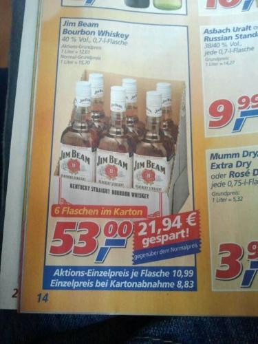 Jim Beam - 6 Flaschen im Karton