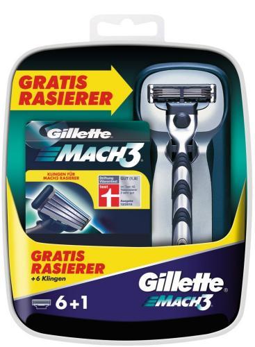 Gillette MACH3 8* Klingen + Rasierer  für 11,95 €/14,95 €. Kostenloser Gillette Rasiererhalter und John Frieda Full Repair Probierset möglich. 5% QIPU?