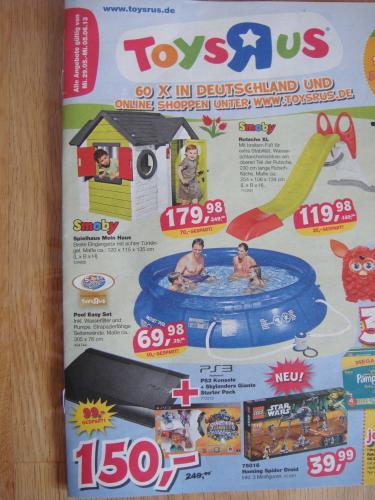 "Bundesweit Toysrus  bis 05.06.2013 "" Sony PS3 Konsole + Skylanders Giants Starter Pack "" für nur 150,00 EUR"