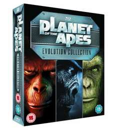 Planet of the Apes: Evolution Collection(7 Blu Rays) inkl. VSK für 22,72 € @amazon.uk