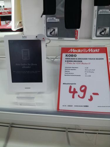 [Lokal Mediamarkt Stuttgart-Feuerbach] Kobo eReader Touch für 49€