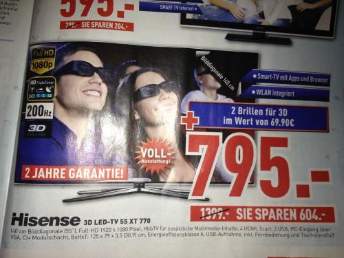 Hisense 3D LED-TV 55 XT 770