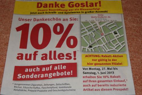 [Lokal Goslar] 10% auf alles bei Rossmann auf alles (auch Sonderangebote)!