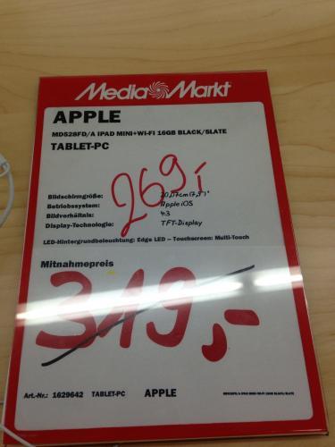 [Stuttgart] Mediamarkt Vaihingen iPad Mini wifi 16gb