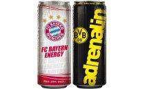 FC Bayern oder BVB Energy Drink