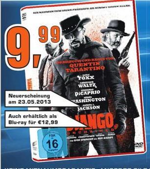 [Lokal Darmstadt] SATURN - Django Unchained Blu-ray für 12,99 €