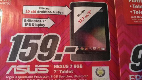 (LOKAL) ASUS Google Nexus 7 8GB @ MediaMarkt Aachen