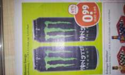 @TEGUT Monster Energy 0,5L 41% Ersparnis   99Cent die Dose statt 1,69€